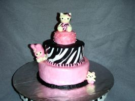Hello Kitty Cake by SarahMame