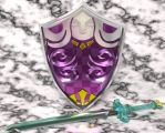 3D Goddess Sword and Shield by Princessdawn3D
