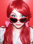 Vintage Heart glasses girl by cherrybomb-81