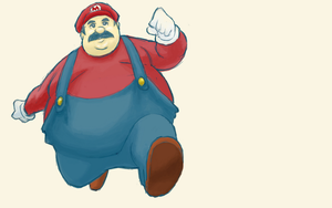 Mario Gone Fat 2 by gwinchy