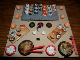 Sushi Table by kayanah