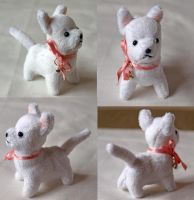 Mini Westie Plush by PlushOwl