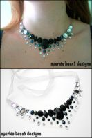 Simple Black AB Necklace by Natalie526