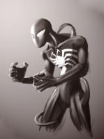 Spidey in Black by b0sley