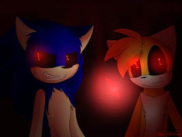 .:Sonic.exe And Tails Doll:. {V.3} by hikadoodles
