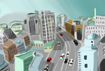 Speed paint challenge A landscape or cityscape by charlot-sweetie