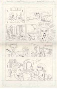 Batman Finite page 3 pencils by rosas-chris