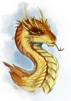 Citrine Wyvern by Adalfyre