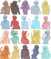 Commissions: Batch Four by tofumi