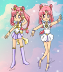 Sailor Elysion Moon and ultimate form by Risaru