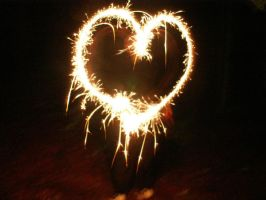 Sparkler Amour by BloodiedGypsy