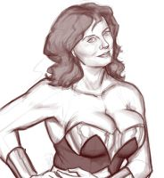 wonder woman sketchyness by clc1997