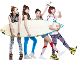 2NE1 PNG Render by classicluv