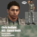 Chris Redfield RE5 Casual Outfit by Adngel