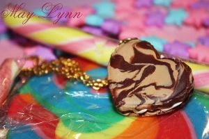 Cookie heart with filling Necklace by May-Lynn