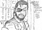 Venom Snake Big Boss MGSV Sketch #1 by Mick81
