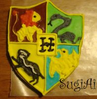 Hogwarts Crest Cookie by SugiAi