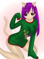 Kitty dress up 3. Kittys cute Christmas jumper by misspants12