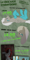 New Commissions Guide! :D [November Sale!] by LaydeeKaze