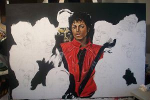 Michael Jackson Painting 4 by JeremyWorst