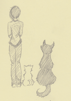 Moleskine challenge - A girl and her dogs by hyperlink