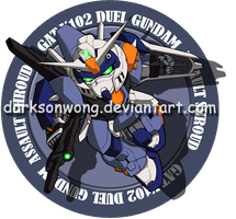 GAT-X102 Duel Gundam Assault Shroud by darksonwong