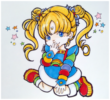 Crossover Fanart: Rainbow Usagi by DanyDanja