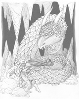 Sorceress and Serpent by Tevokkia