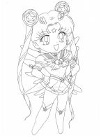Project: Chibi Eternal Sailor SilverStar (Lineart) by TenshiNeera