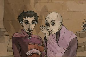 Whispers (Baelish and Varys) (ASoIaF) by SmudgeThistle
