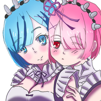 Rem and Ram by LunaShadow17