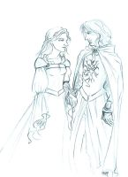 Faramir and Eowyn by Na-kun