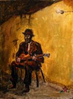 Man with Guitar by bmulford