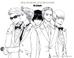 Super junior 5th album fanart by Gratchiyo