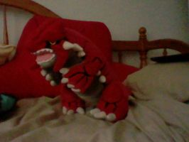 Pokemon: HUGE Groudon Plushie by PikaYugi4Ever93
