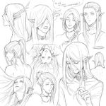 Long Hair Niel sketches by nipuni