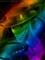 Creepy Splendor Man - Distorted Rainbow by SayaBloodstone