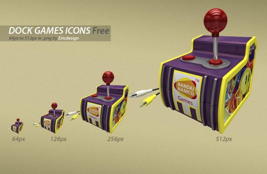 3D games icons by 3DEricDesign