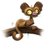 Daily Paint #642. Foosa Quickie by Cryptid-Creations