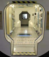 Space Station Interior 2 - through the bulkhead by fuguestock