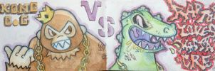 Kong O.G VS Raptorlovesmassacre by ExoesqueletoDV
