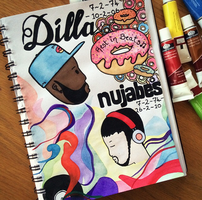 Happy Dilla / Nujabes day! RIP hiphop legends  by HelenaG23