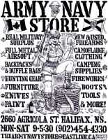 Army Navy Store Poster by goodbunny2000
