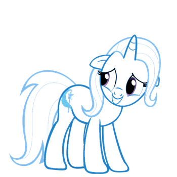 Trixie lineart by Team432R5