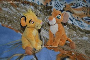 Sitting softy Simba and Nala - TLK by MoondragonEismond