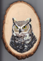 The Great Horned Owl by kephre