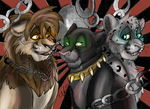 Art Trade - The Circus Freaks by X-x-Magpie-x-X