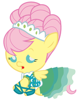 Baby Fluttershy, the Cutest Model In All Equestria by Beavernator