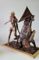 creatures from Silent Hill by 13essylu