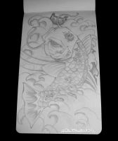 Koi tattoo sketch by psychopunkpk1